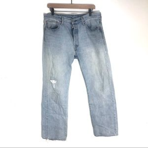 Vintage Levi's USA 501 80's button fly jeans high